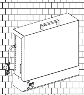 SpaceGrill FAQ vertical storage position